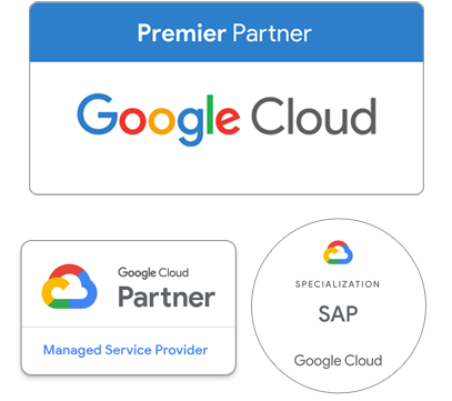 Google Cloud Partner certifications badges
